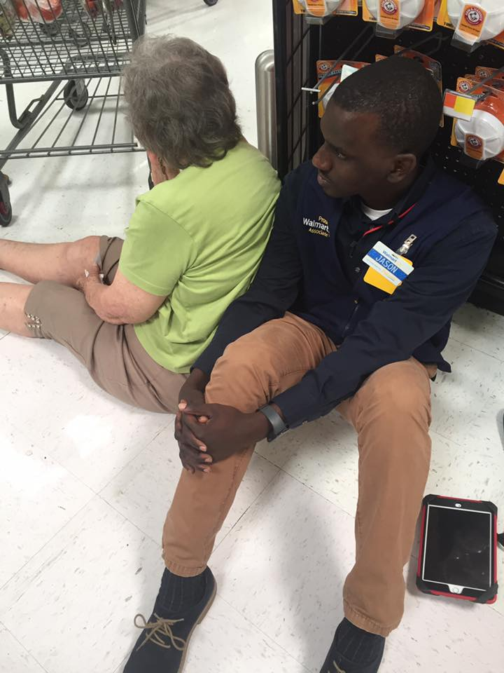 Walmart worker's selfless act of kindness for ailing woman melts hearts